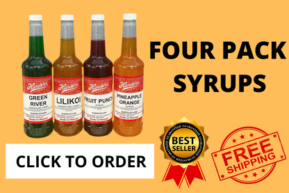 four pack of syrup, click to order